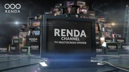 پروژه افترافکت افتتاحیه مولتی اسکرین TV Video Multiscreen Opener