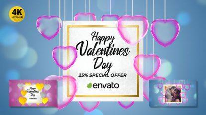 پروژه افترافکت افتتاحیه عاشقانه Valentine's Day Opener Promo
