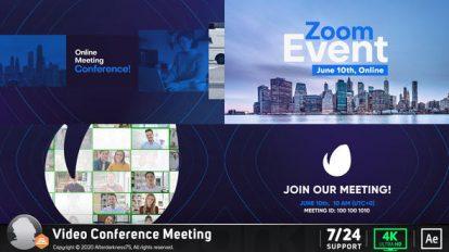پروژه افترافکت کنفرانس آنلاین Conference Online Zoom Meeting