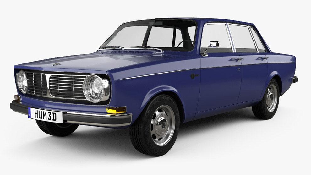 مدل سه بعدی خودرو ولوو Volvo 144 Sedan 1967