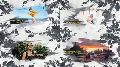 پروژه افترافکت اسلایدشو آبرنگ Watercolor Slideshow Floral
