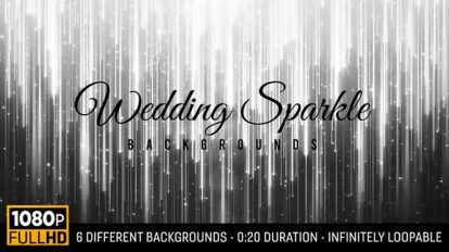 مجموعه فوتیج زمینه متحرک درخشان Wedding Sparkle Backgrounds