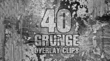 مجموعه فوتیج زمینه گرانج Grunge Overlay Clips Pack