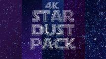 مجموعه فوتیج زمینه گرد و غبار 4K Stardust Pack