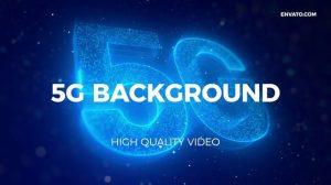 فوتیج موشن گرافیک زمینه متحرک شبکه 5G