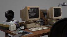 مدل سه بعدی میز کار دهه نودی 90s Workplace