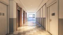 صحنه سه بعدی محیط داخلی لابی آپارتمان Apartment Lobby