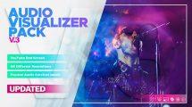 پروژه افترافکت ویژوالایزر موزیک Audio Visualizer Pack