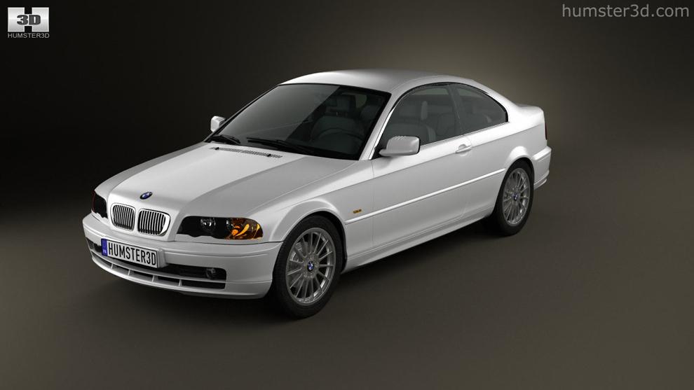 مدل سه بعدی خودرو بی ام و BMW 3 Series Coupe E46 2004