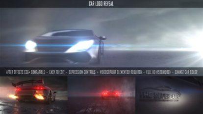پروژه افترافکت نمایش لوگو با خودرو Car Logo Reveal