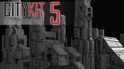 مجموعه مدل سه بعدی ساختمان CityKit Sci-Fi Edition Vol.5