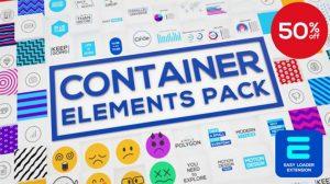 پروژه افترافکت مجموعه اجزای موشن گرافیک Container Elements Pack
