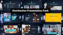 پروژه افترافکت پرزنتیشن ویروس زدایی Disinfection Presentation Pack