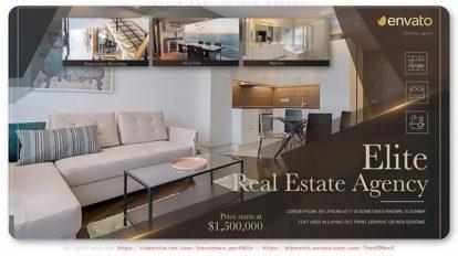 پروژه افترافکت تیزر تبلیغاتی مشاور املاک Elite Real Estate Agency