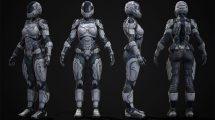 مدل سه بعدی ربات سرباز زن Female Sci-Fi Soldier