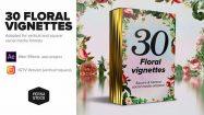 پروژه افترافکت قاب های گلدار Floral Vignettes