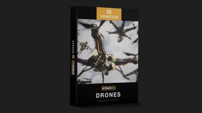 مجموعه مدل سه بعدی وسیله نقلیه درن Kitbash3D Drones