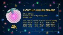 مجموعه فوتیج قاب چراغ های تزیینی Lighting Bulbs Wire Frame