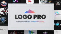 پروژه افترافکت مجموعه تیزر نمایش لوگو Logo Pro Animation Pack