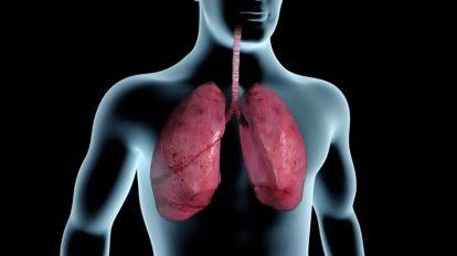 فوتیج موشن گرافیک آلوده شدن ریه ها با دود سیگار