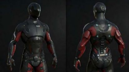 مدل سه بعدی کاراکتر ربات Mass Effect Pathfinder Suit