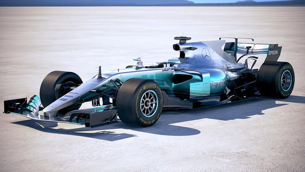 مدل سه بعدی ماشین مسابقه مرسدس F1 Mercedes W08 2017