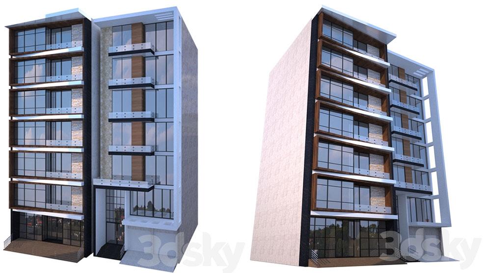 مدل سه بعدی ساختمان مدرن Modern Building 2
