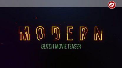پروژه افترافکت تریلر با افکت گلیچ Glitch Movie Teaser