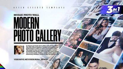 پروژه افترافکت گالری عکس موزاییکی Mosaic Photo Gallery