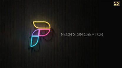 پروژه افترافکت ساخت نشان نئونی Neon Sign Creator