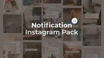 پروژه افترافکت نمایش نوتیفیکیشن Notification Instagram Pack