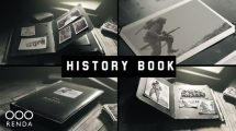 پروژه افترافکت آلبوم عکس قدیمی Old Book History Album