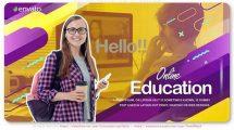پروژه افترافکت اسلایدشو آموزش آنلاین Online Education Slideshow