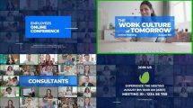 پروژه افترافکت تیزر تبلیغاتی جلسه آنلاین Online Meeting Video Conference