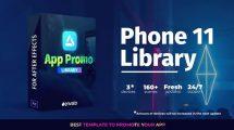 پروژه افترافکت تیزر تبلیغاتی اپلیکیشن App Promo Phone 11