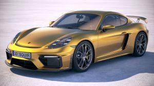 مدل سه بعدی خودرو پورشه Porsche 718 aCayman GT4 2020