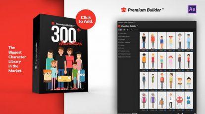 افزونه افترافکت مجموعه انیمیشن کاراکتر Premium Builder Characters