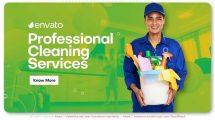 پروژه افترافکت تیزر تبلیغاتی خدمات نظافت Professional Cleaning Services