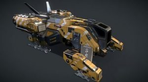 مدل سه بعدی سفینه فضایی Sci-Fi Dropship Concept