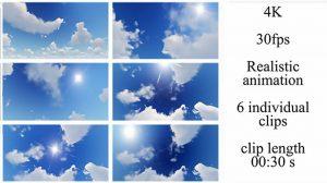مجموعه فوتیج ابر و آسمان Sky and Clouds Pack