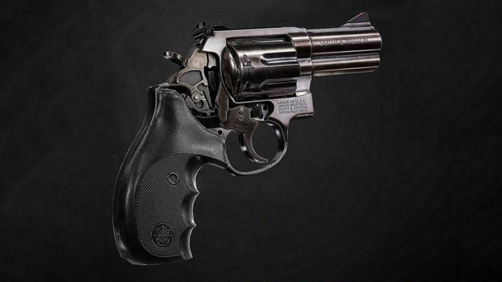 مدل سه بعدی اسلحه Smith and Wesson 686 Revolver