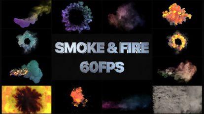 پروژه افترافکت مجموعه افکت دود و آتش Smoke and Fire Simulation