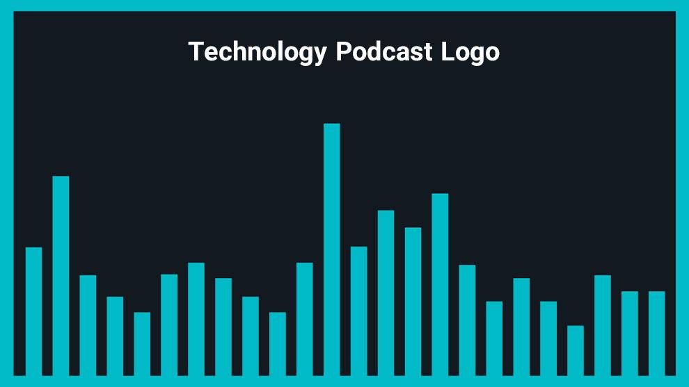 موزیک زمینه لوگو پودکست Technology Podcast Logo