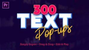 پروژه پریمیر نمایش متن پاپ آپ Text Popups