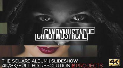 پروژه افترافکت اسلایدشو آلبوم عکس The Square Album Slideshow