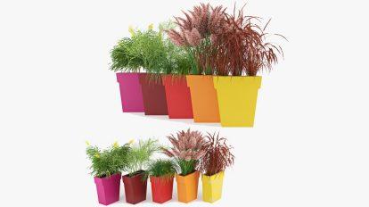 مدل سه بعدی مجموعه گلدان ساده Vaso Outdoor Planter