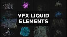 پروژه افترافکت مجموعه افکت مایع VFX Liquid Elements