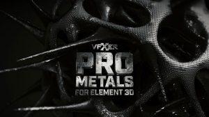مجموعه متریال حرفه ای فلزی برای پلاگین Element 3D