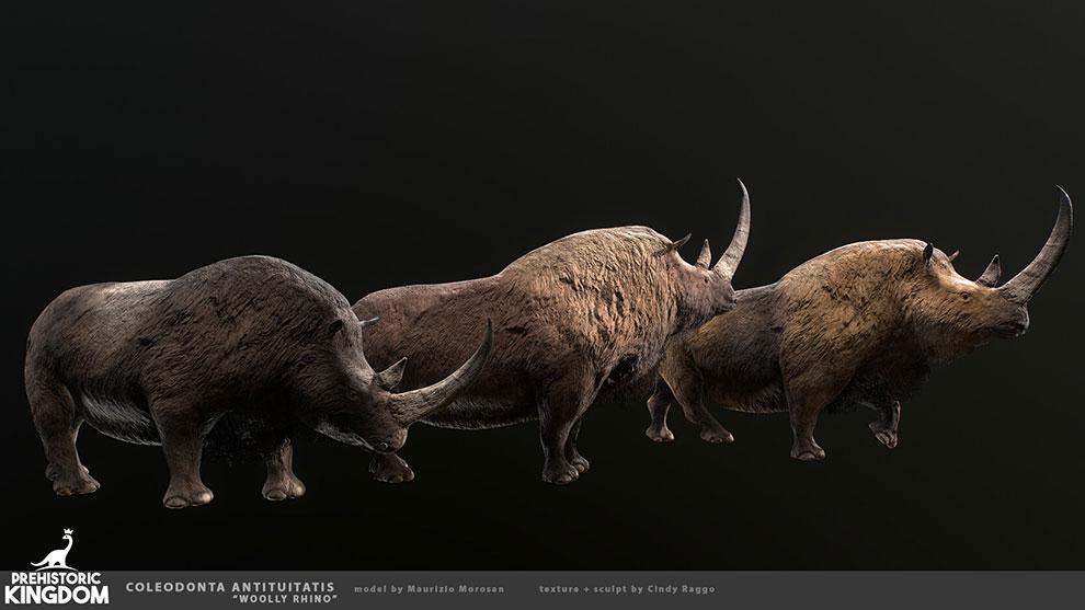 مدل سه بعدی کرگدن Woolly Rhino