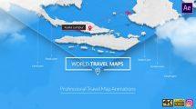 پروژه افترافکت مسیرهای نقشه جهان World Travel Maps